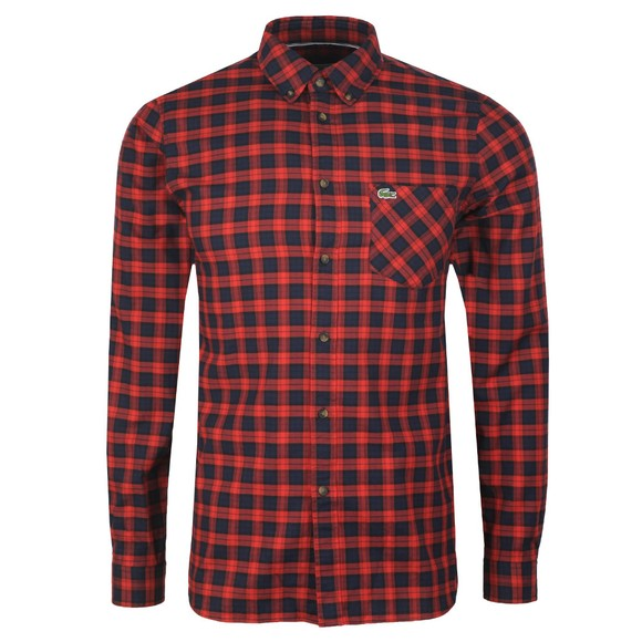 Lacoste Mens Red CH0062 Check Shirt main image