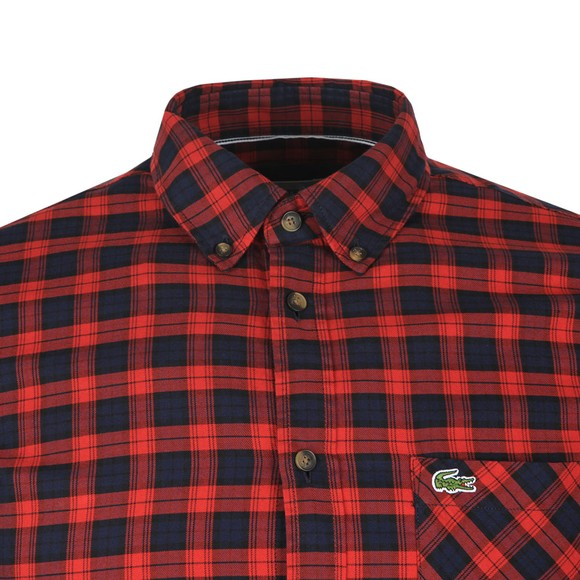 Lacoste Mens Red CH0062 Check Shirt
