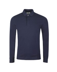Lacoste Mens Blue L/S Paris Polo