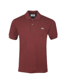 Lacoste Mens Red L1264 Plain Polo