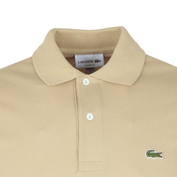 Lacoste Mens Beige L1212 Plain Polo Shirt