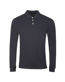 Emporio Armani Mens Black 8N1F13 Long Sleeve Polo Shirt