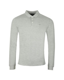 Emporio Armani Mens Grey 8N1F13 Long Sleeve Polo Shirt