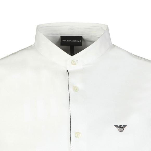 Emporio Armani Mens White Pique Shirt main image