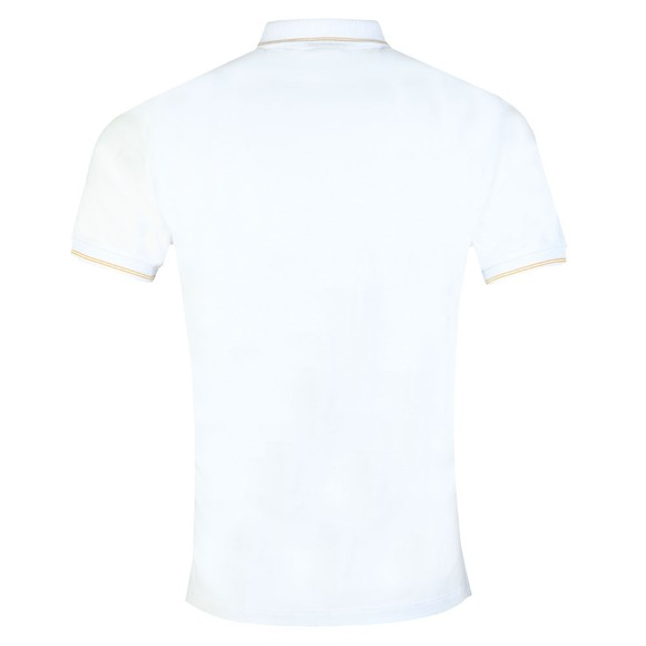 Emporio Armani Mens White Gold Logo Polo Shirt main image