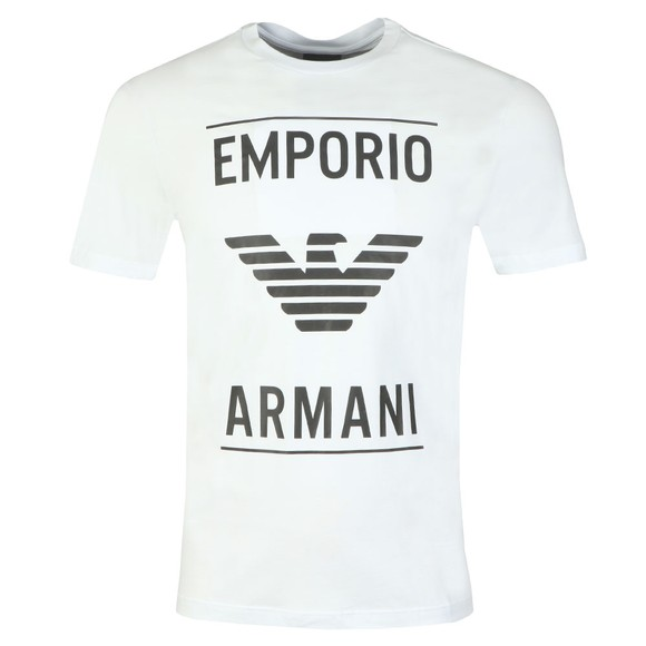 Emporio Armani Mens White 6G1TE7 Logo T Shirt