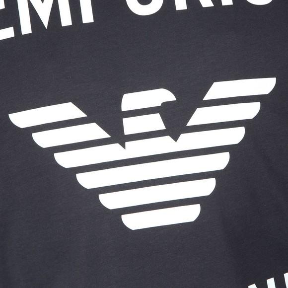 Emporio Armani Mens Blue 6G1TE7 Logo T Shirt