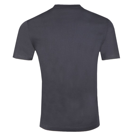 Emporio Armani Mens Blue Milano Embroidered Logo T Shirt main image