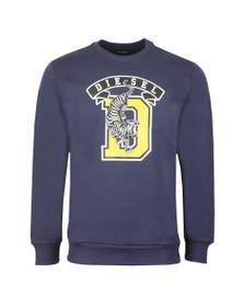 Diesel Mens Blue S-Gir B1 Sweatshirt