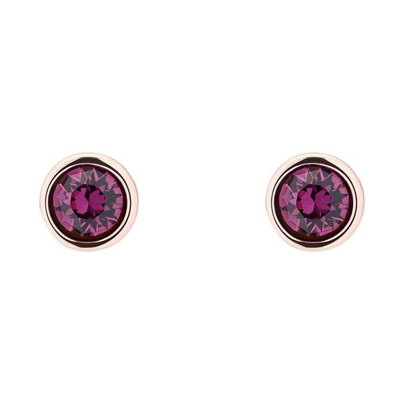 Ted Baker Womens Purple Sinaa Crystal Stud Earrings main image
