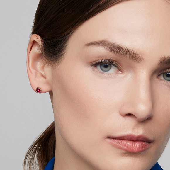 Ted Baker Womens Red Sinaa Crystal Stud Earrings main image