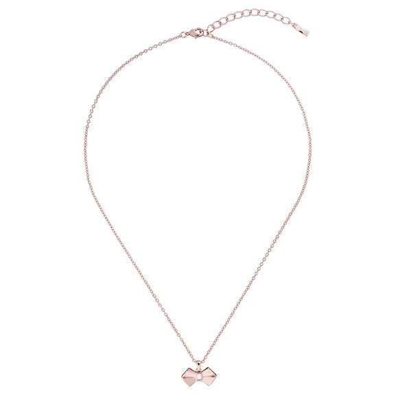 Ted Baker Womens Pink Sarahli Solitaire Bow Pendant main image