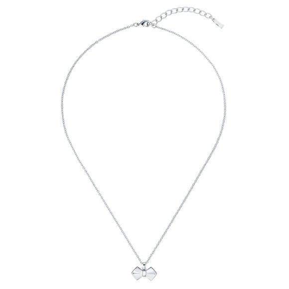 Ted Baker Womens Silver Sarahli Solitaire Bow Pendant main image
