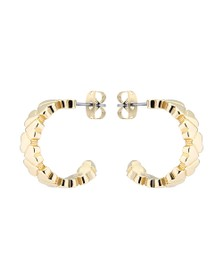 Ted Baker Womens Gold Harleen Heart to Heart Small Hoop Earring