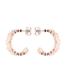 Ted Baker Womens Pink Harleen Heart to Heart Small Hoop Earring
