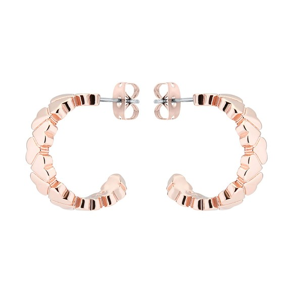 Ted Baker Womens Pink Harleen Heart to Heart Small Hoop Earring main image