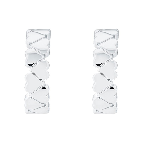 Ted Baker Womens Silver Harleen Heart to Heart Small Hoop Earring main image