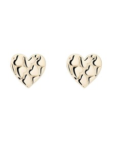 Ted Baker Womens Gold Harloa Heart to Heart Stud Earring