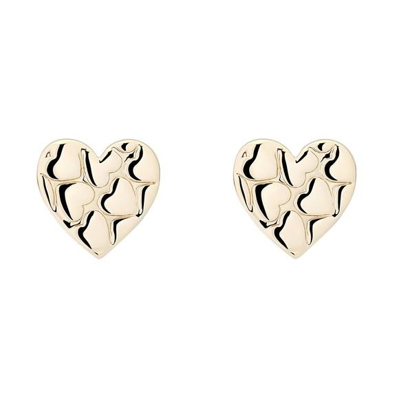 Ted Baker Womens Gold Harloa Heart to Heart Stud Earring main image