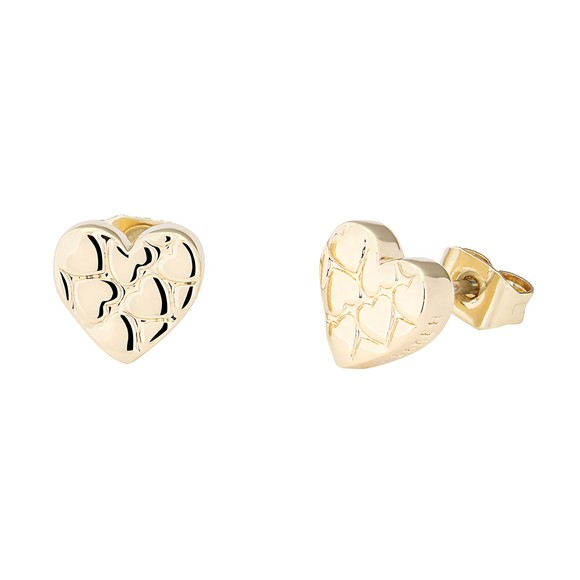 Ted Baker Womens Gold Harloa Heart to Heart Stud Earring main image