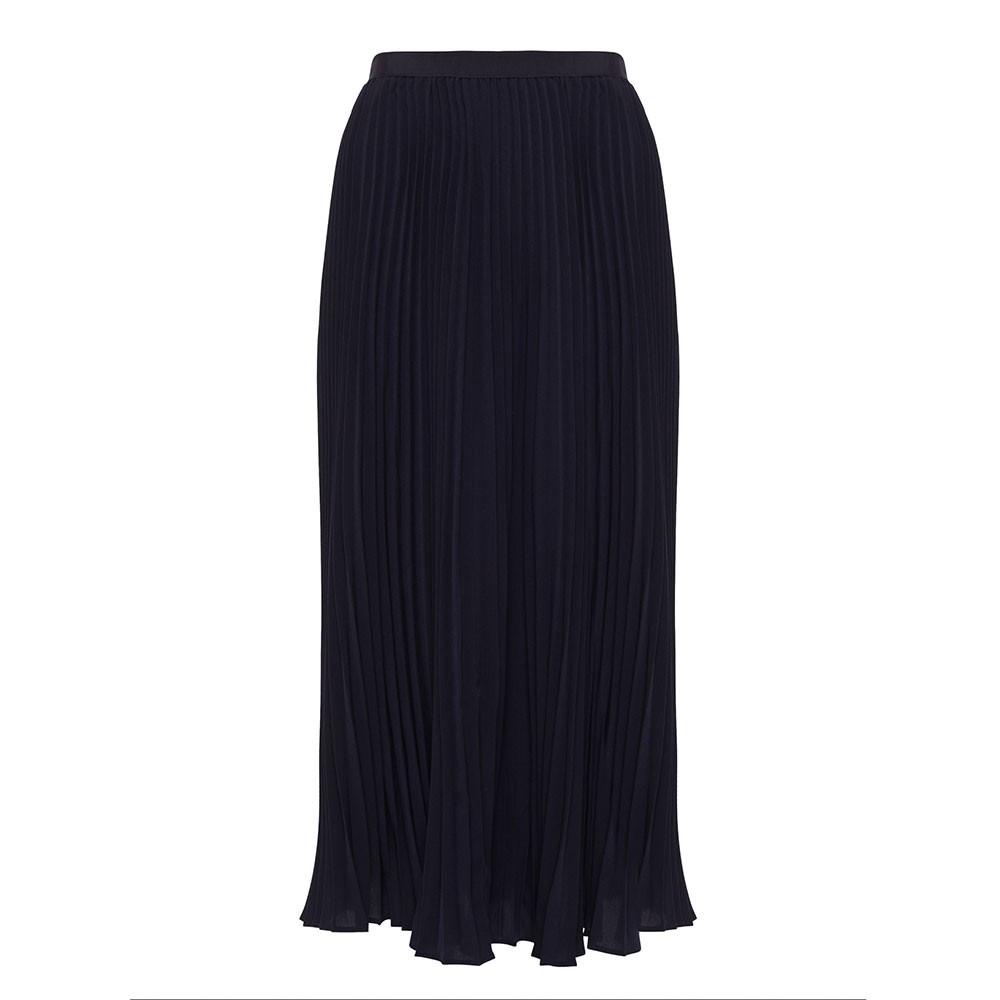 Crepe Light Pleated Midi Skirt main image