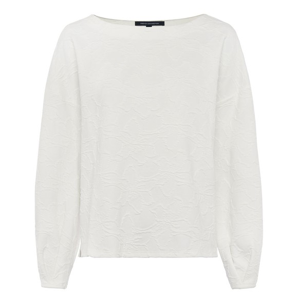 French Connection Womens White Sicily Texture Jersey Top