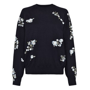 Rielle Embroidered Crew Knit
