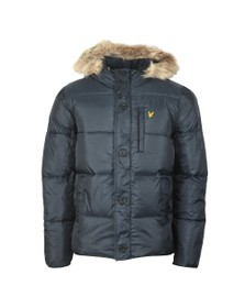 Lyle and Scott Mens Blue Wadded Hooded Jacket