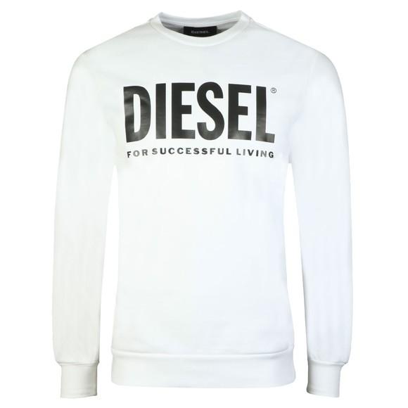 Diesel Mens White S-GIR Division Logo Sweatshirt main image