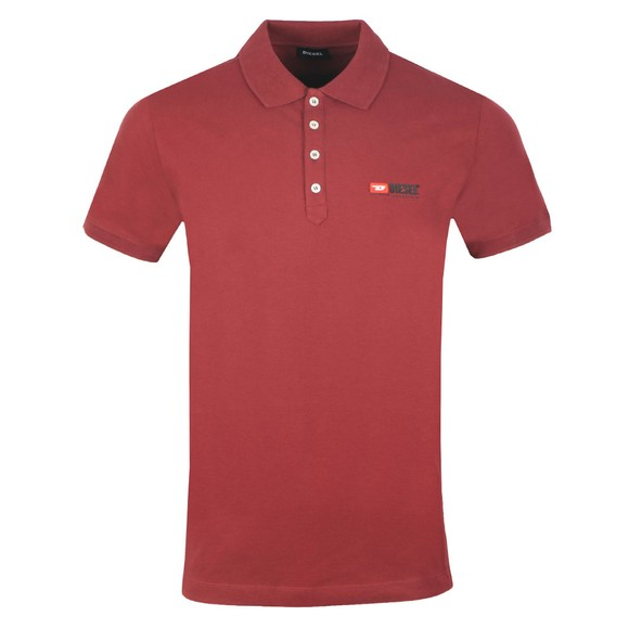 Diesel Mens Red Weet Polo Shirt