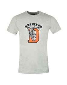 Diesel Mens Grey Diego Tiger T Shirt