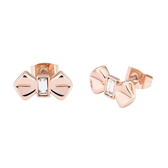 Ted Baker Womens Pink Susli Solitaire Bow Stud Earring main image