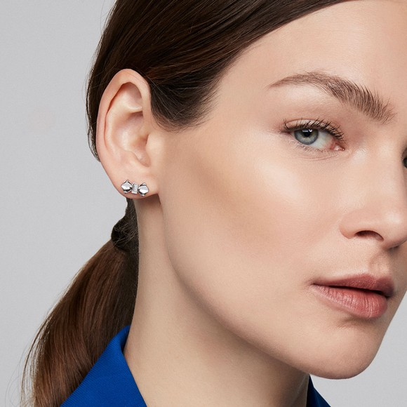 Ted Baker Womens Silver Susli Solitaire Bow Stud Earring