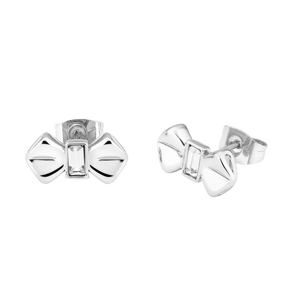 Ted Baker Womens Silver Susli Solitaire Bow Stud Earring main image