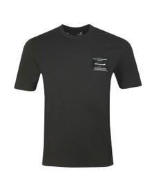 Love Moschino Mens Black Plaque T Shirt