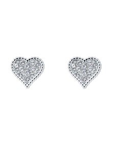 Ted Baker Womens Silver Hanila Hidden Heart Stud Earring