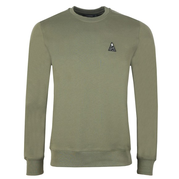 J.Lindeberg Mens Green Throw Ring Crew Neck Sweatshirt