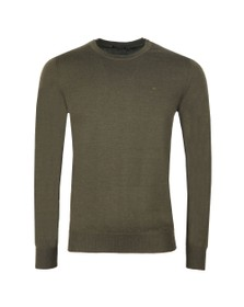 J.Lindeberg Mens Green Lyle Merino Knit Jumper