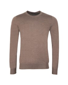 J.Lindeberg Mens Brown Lyle Merino Knit Jumper