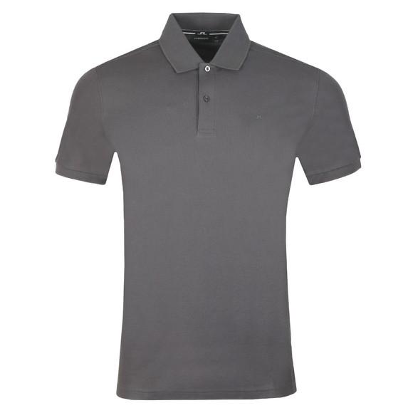 J.Lindeberg Mens Grey Troy Clean Pique Polo Shirt main image
