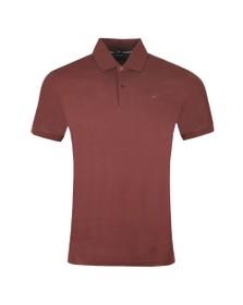 J.Lindeberg Mens Dark Mocca Troy Clean Pique Polo Shirt