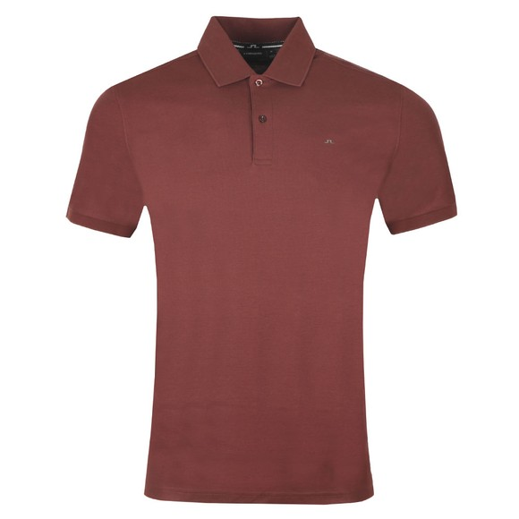 J.Lindeberg Mens Dark Mocca Troy Clean Pique Polo Shirt main image