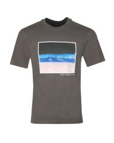 J.Lindeberg Mens Grey Jordan Distinct Cotton T Shirt