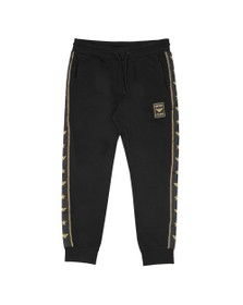 Emporio Armani Mens Black Gold Tape Logo Jogger