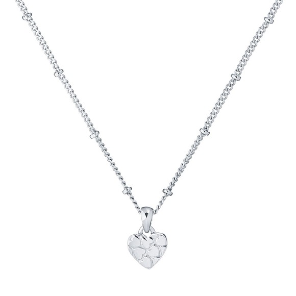 Ted Baker Womens Silver Harow Heart to Heart Pendant main image