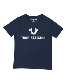 True Religion Boys Blue Boys  Foil Print T Shirt