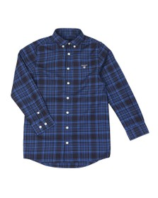 Gant Boys Blue Boys Twill Check Shirt