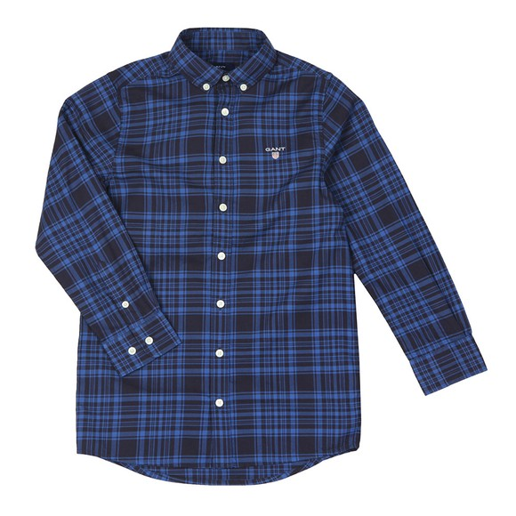 Gant Boys Blue Boys Twill Check Shirt main image