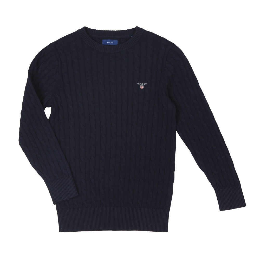 Boys Cotton Cable Crew Jumper main image