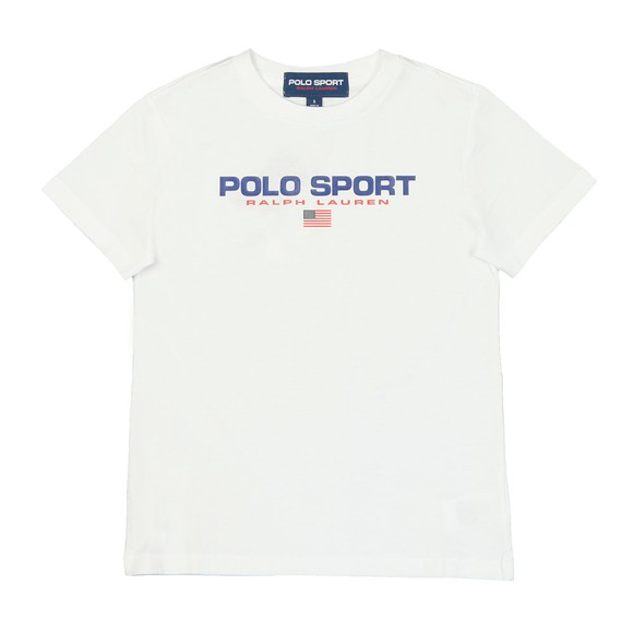 Polo Sport Ralph Lauren Boys White Boys Large Logo T Shirt